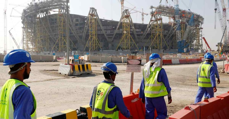 qatar stadium workers