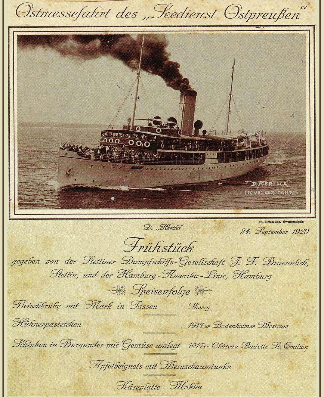 Χειμάρρα ex «Hertha» SS Hertha 1920