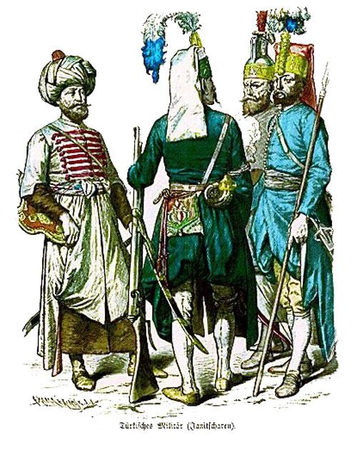 Γενίτσαροι σε γερμανική λιθογραφία του 19ου αιώνα
