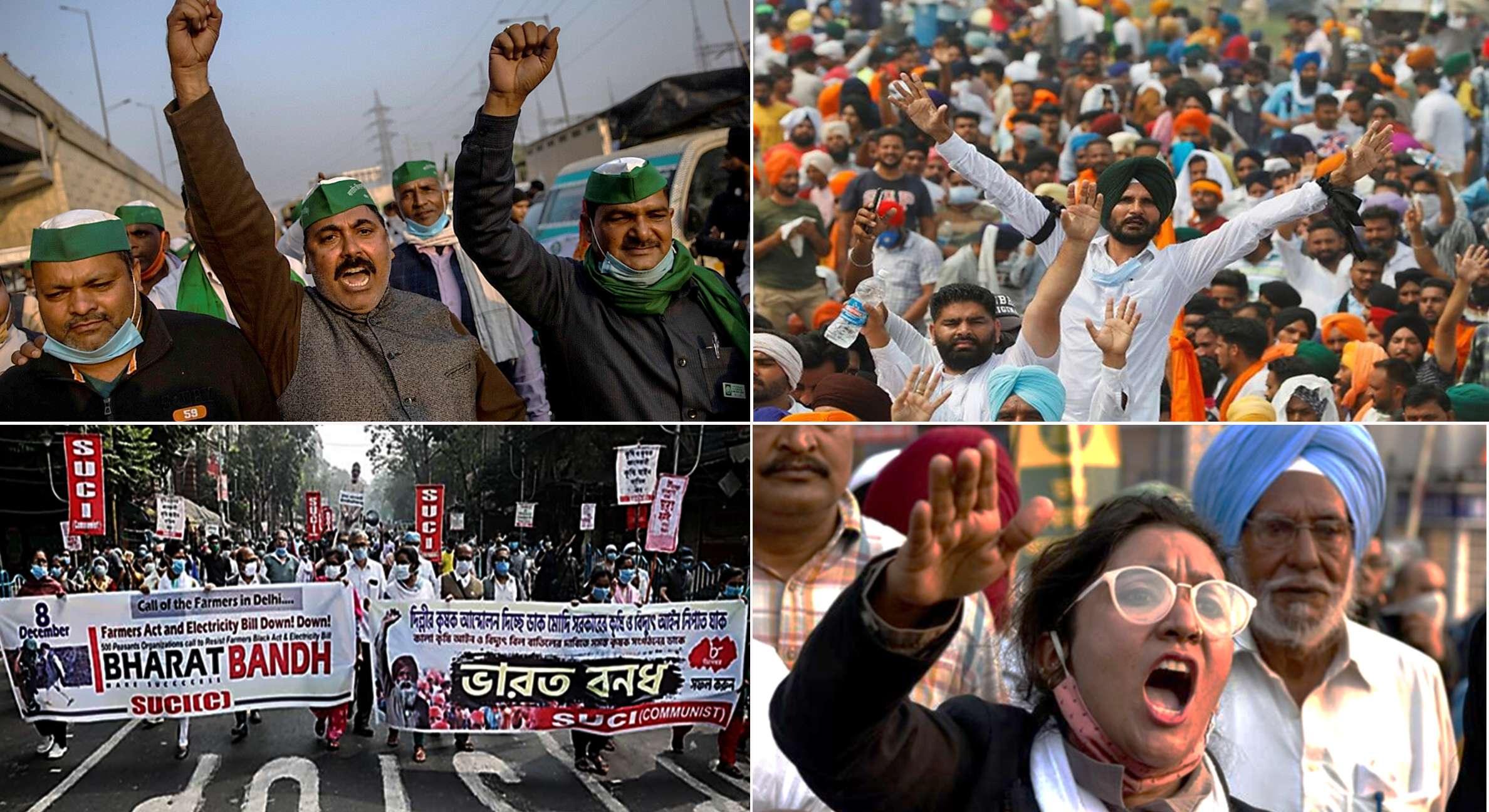 4 μήνες αγροτικών κινητοποιήσεων στην Ινδία