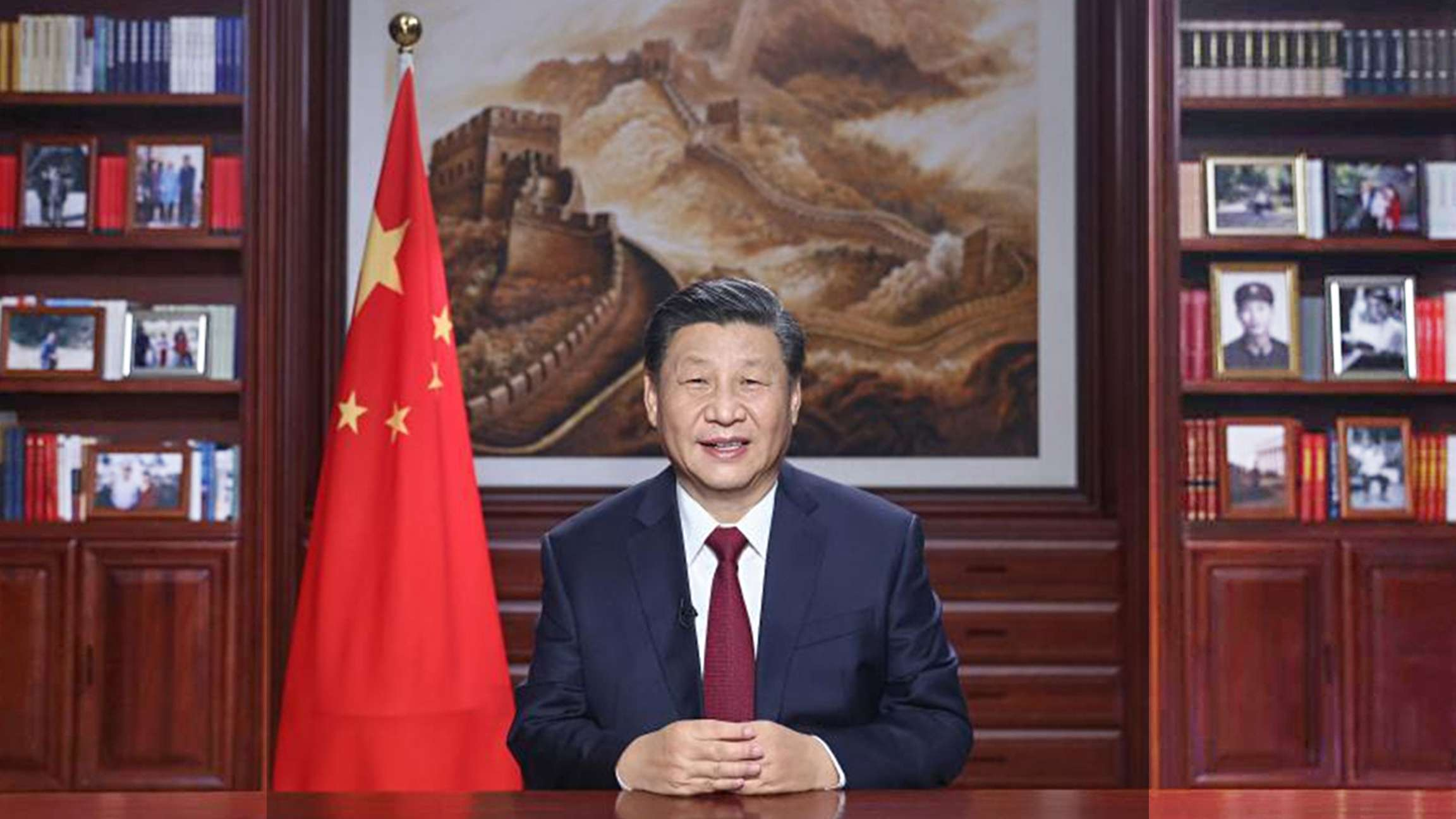 Chinese President Xi Jinping delivers a New Year speech Thursday evening in Beijing to ring in 2021