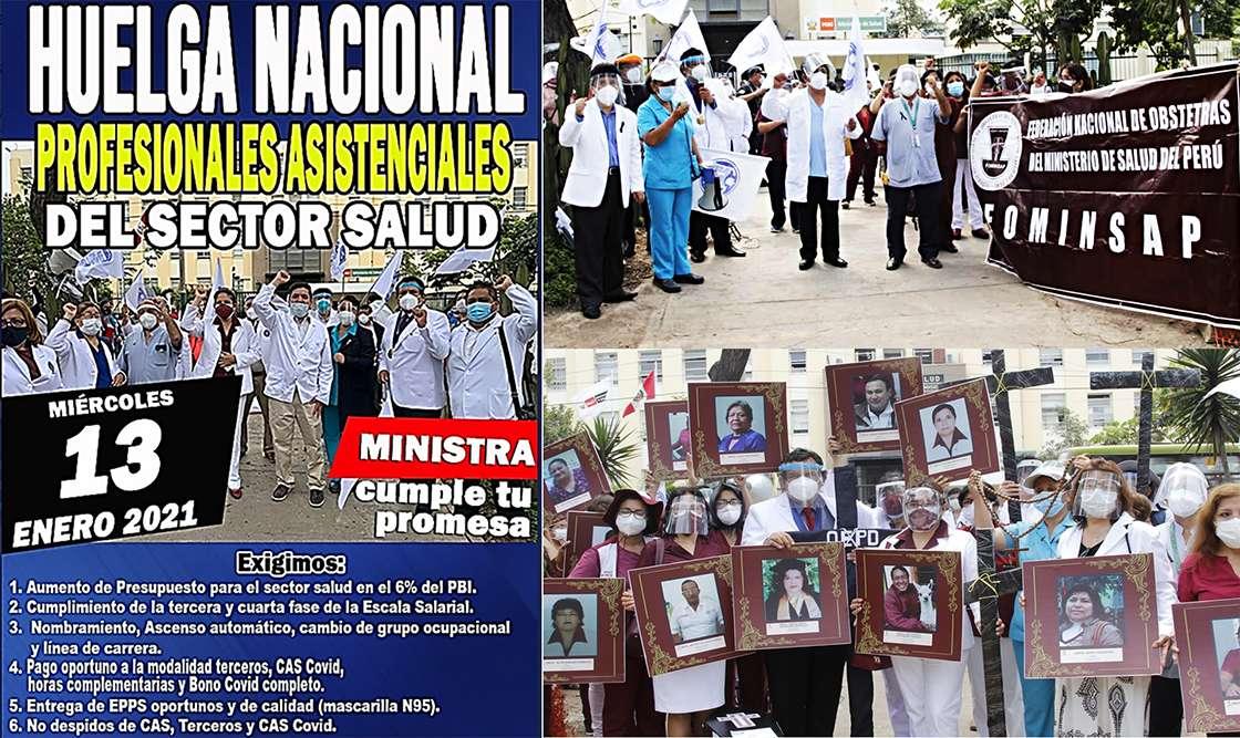 Huelga nacional de trabajadores del sector salud Perù