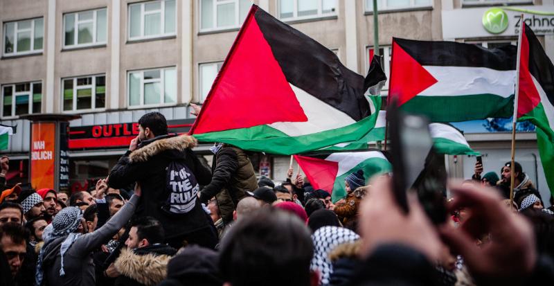 Palestinians demonstration