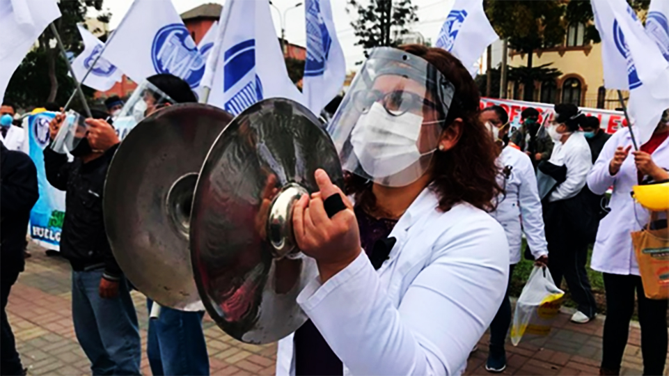 Perú Απεργία διαρκείας Υγειονομικών Médicos continúan en huelga indefinida Ιανουάριος 2021