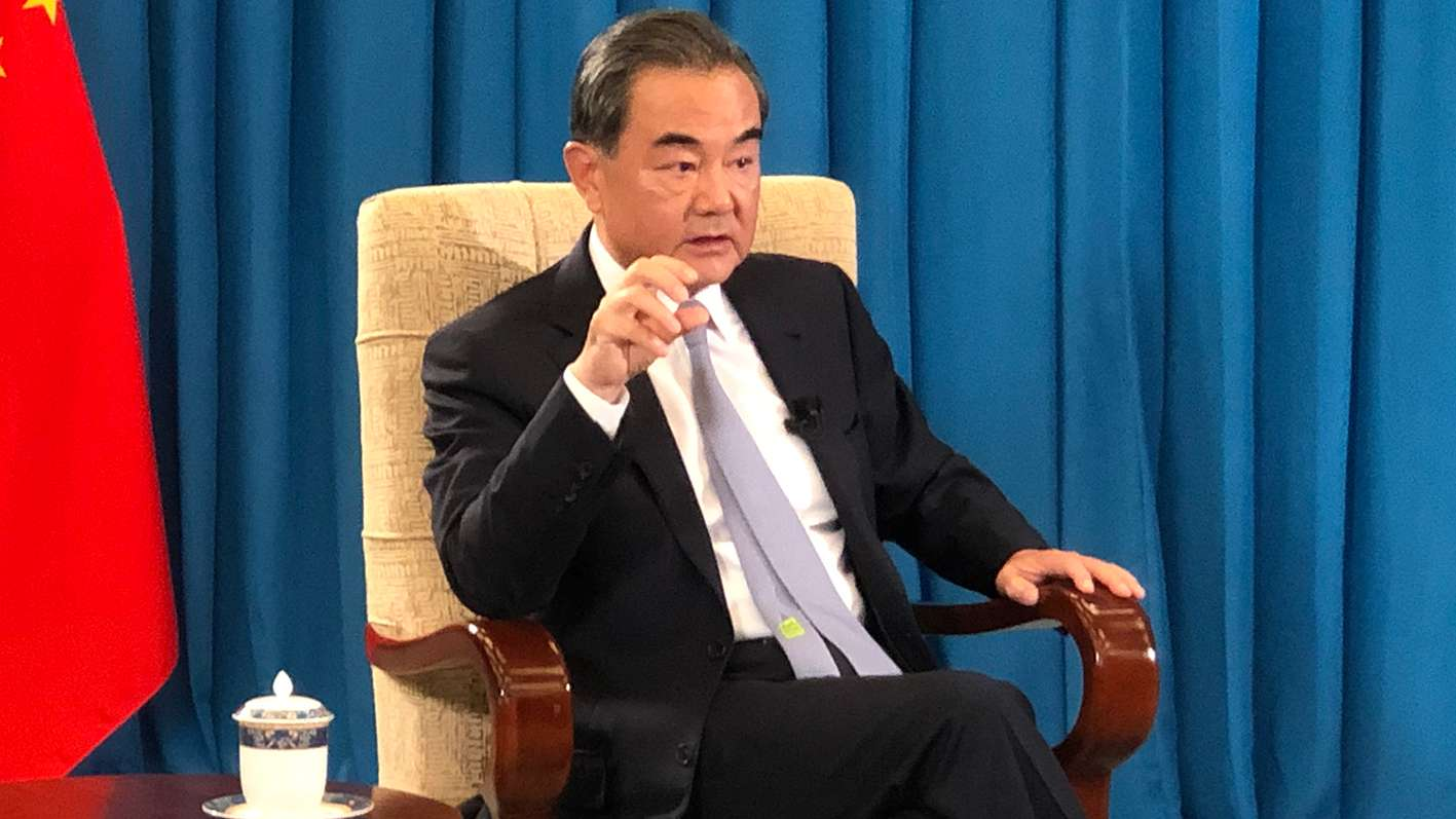 Wang Yi State Councilor Foreign Minister China Interview Xinhua News Agency