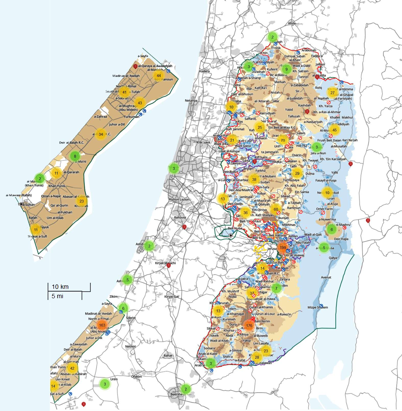 btselem Interactive Map