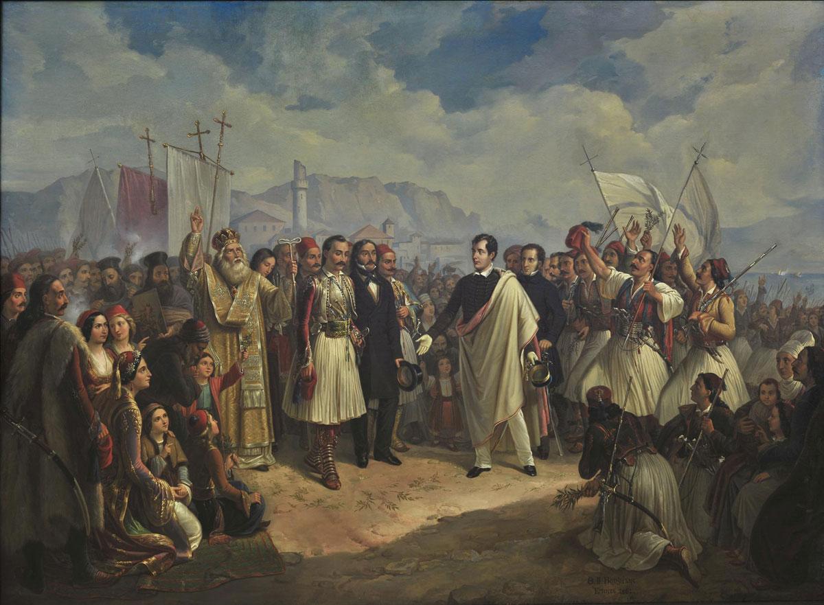 Θ-Βρυζάκης Η υποδοχή του Λόρδου Βύρωνα στο Μεσολόγγι
