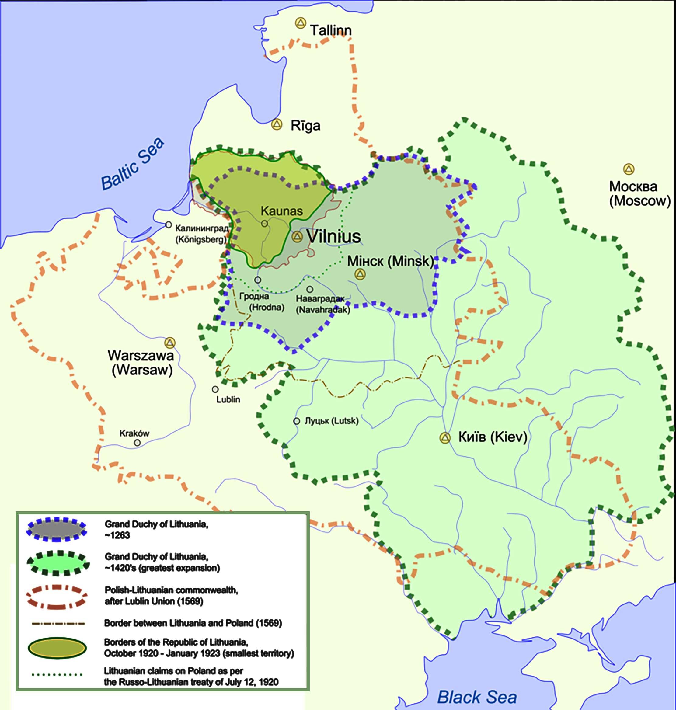 Λιθουανία Lietuvos Respublika Lietuva map
