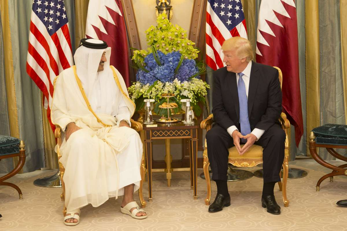 Donald Trump Emir of Qatar Sheikh Tamim bin Hamad Al Thani 2017