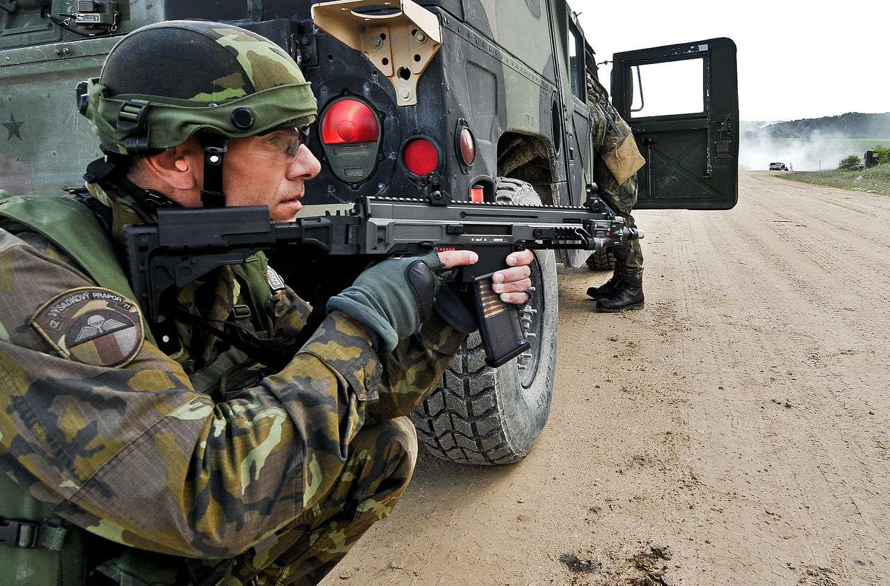 NATO Operational Czech paratrooper with the CZ 805 BREN A2
