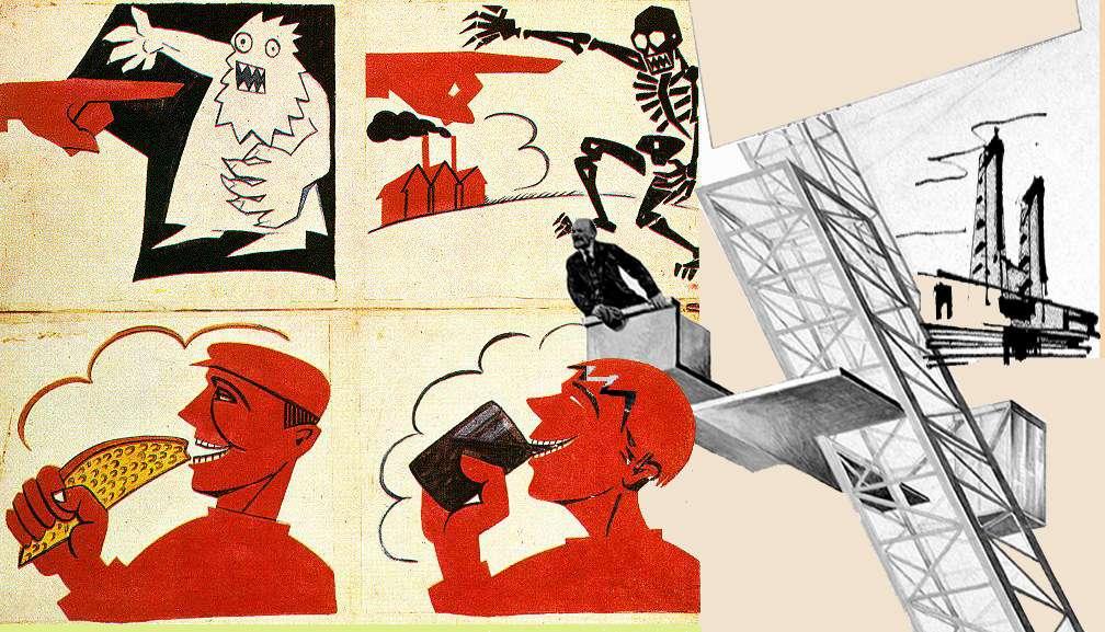 Plakat Agitprop MayakovskyTribune Ленинская трибуна El Lissitzky