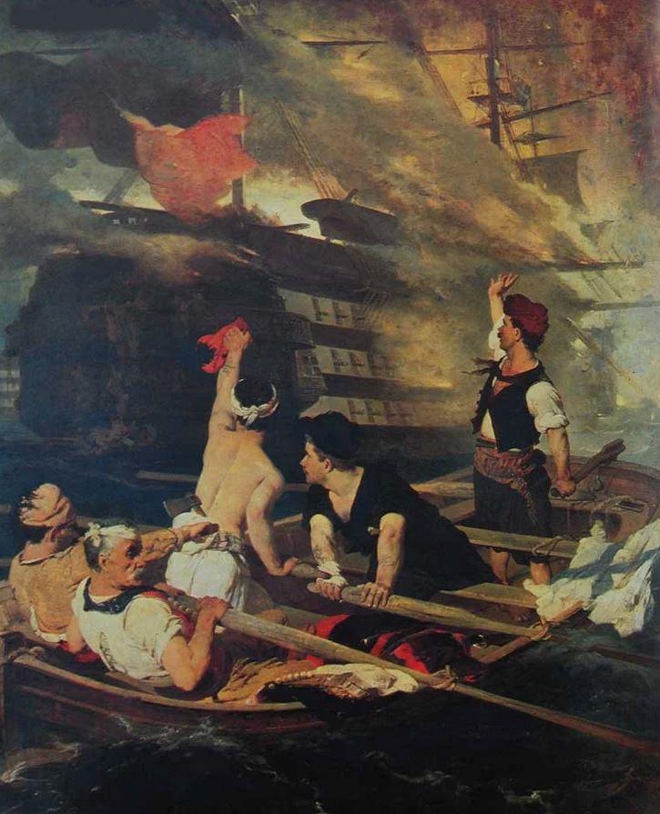 πυρπόληση της τουρκικής ναυαρχίδας του Νικηφόρου Λύτρα