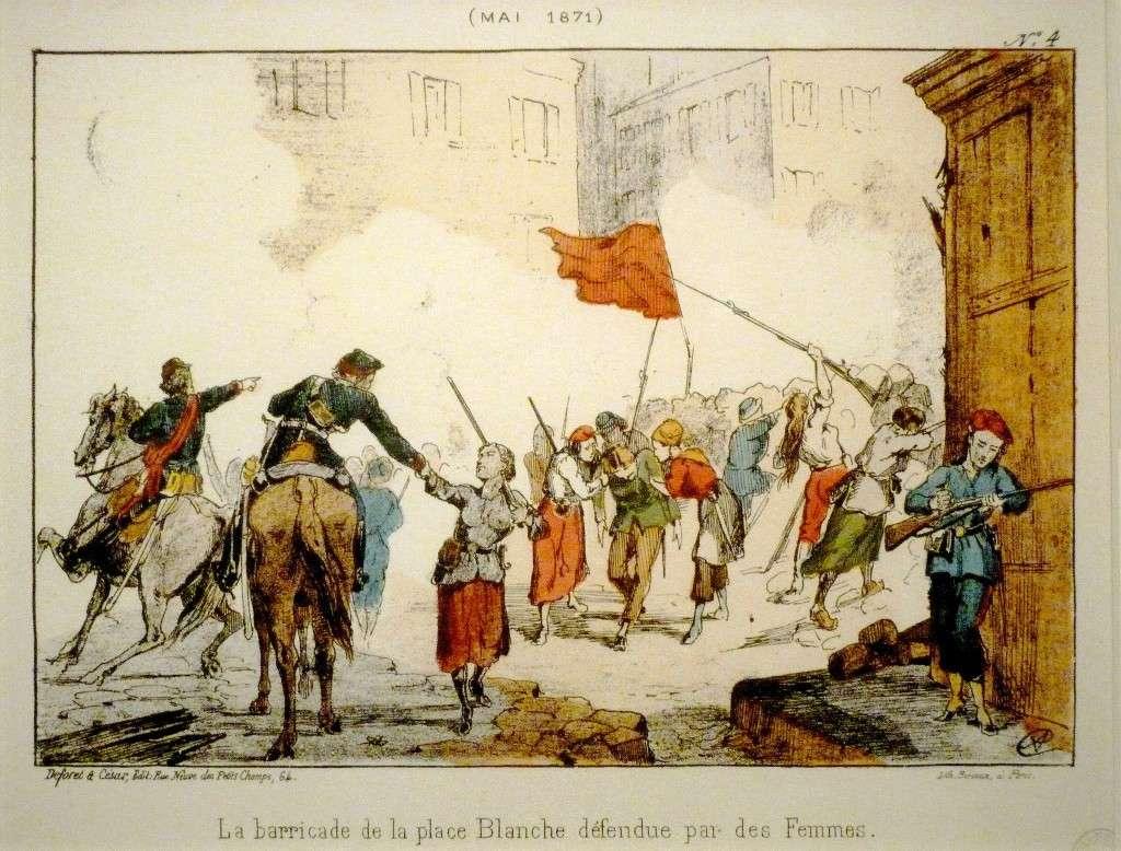 Κομμούνα Παρισιού barricade Place Blanche