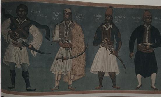 Τοιχογραφία στην αίθουσα του Προέδρου του Δημοτικού Συμβουλίου στο Δημαρχείο της Αθήνας