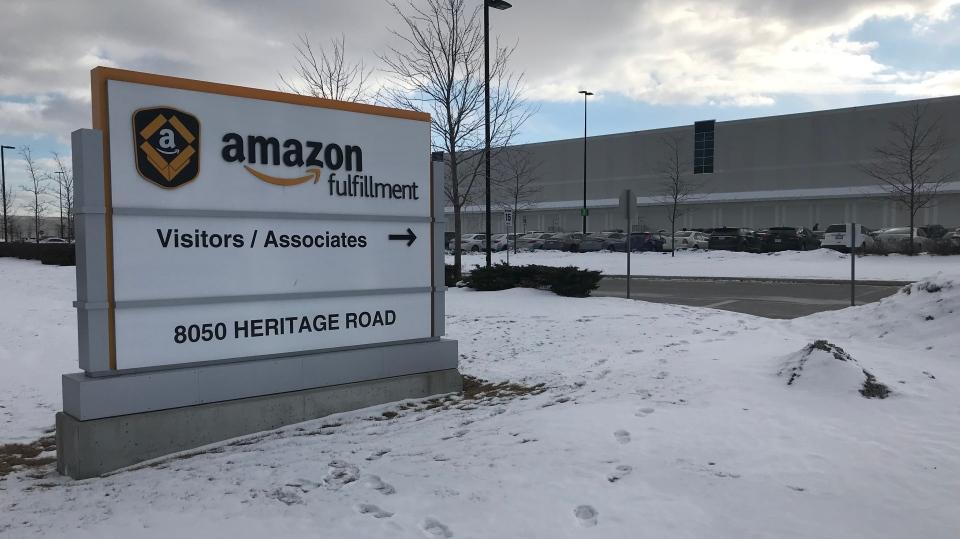 Amazon fulfillment centre in Brampton