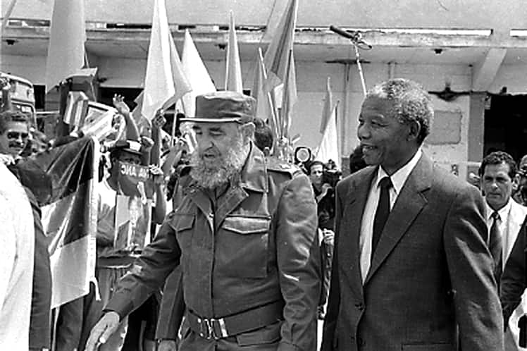 Fidel y Nelson Rolihlahla Mandela
