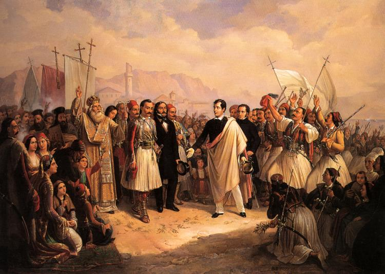 Lord Byron at Missolonghi