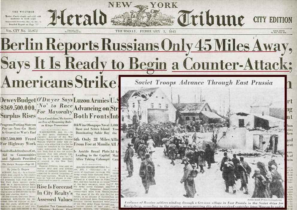 1945 г Советские солдаты в Берлине April NY Herard Tribune