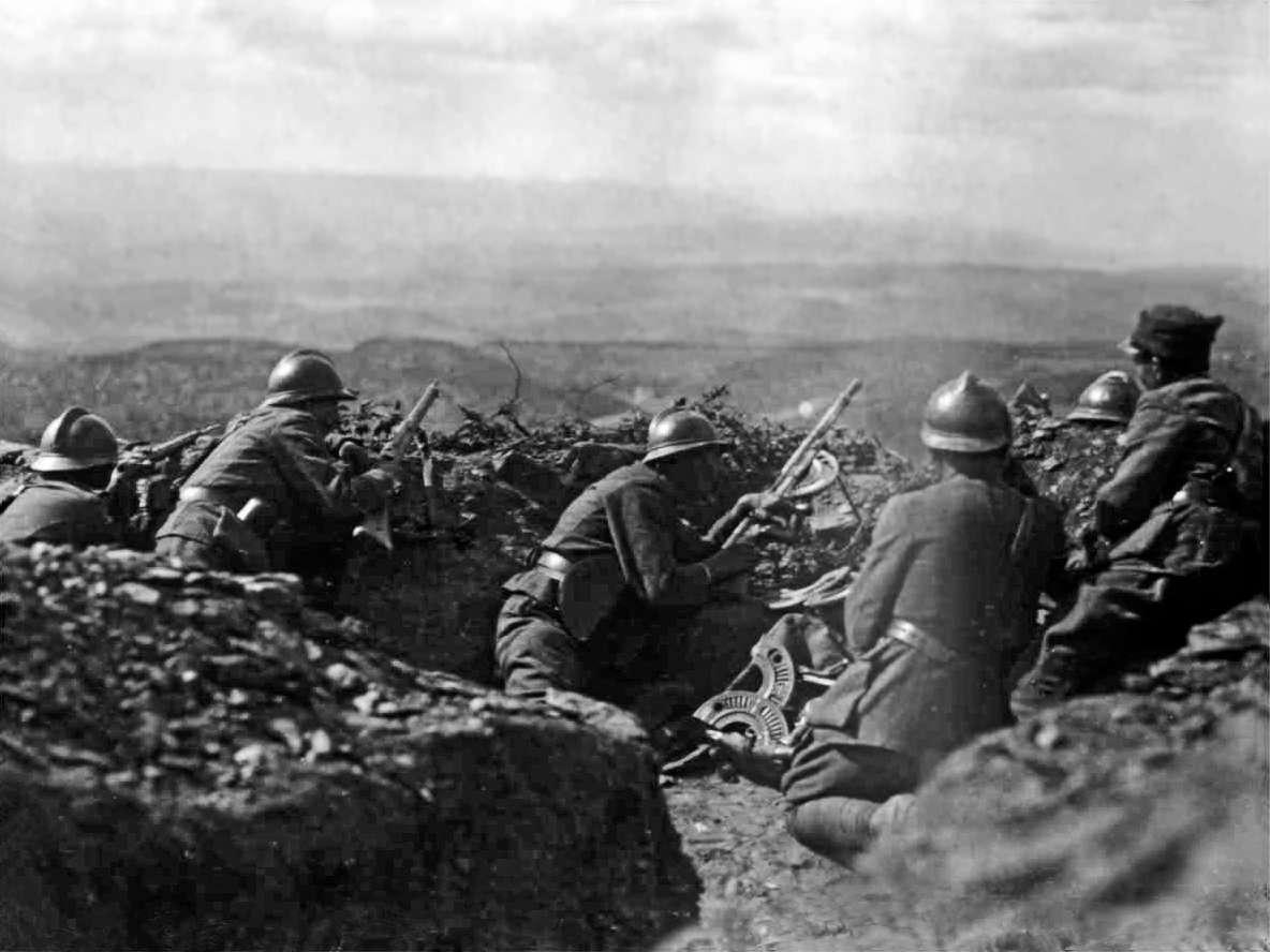 Greek soldiers at Afyon Karahisar 1922 Έλληνες στρατιώτες στο Αφιόν Καραχισάρ