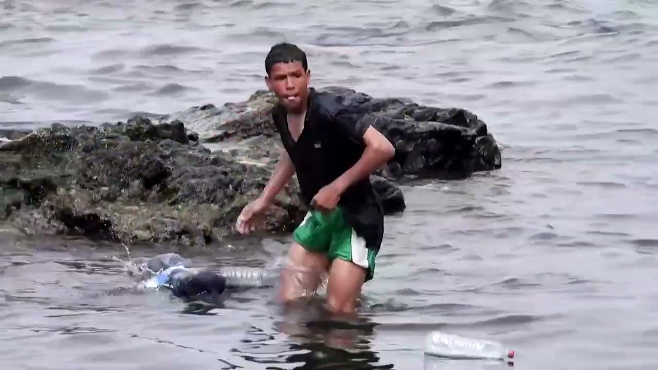 Migrant boy swims to Spains Ceuta