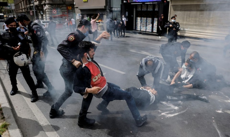 istanbul may day violence