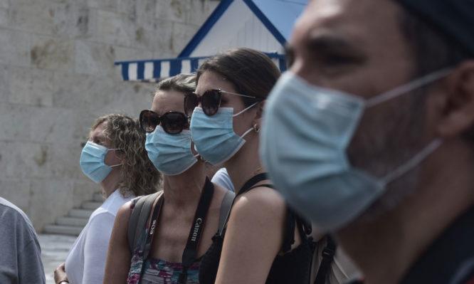 korwnoios a8hna maskes
