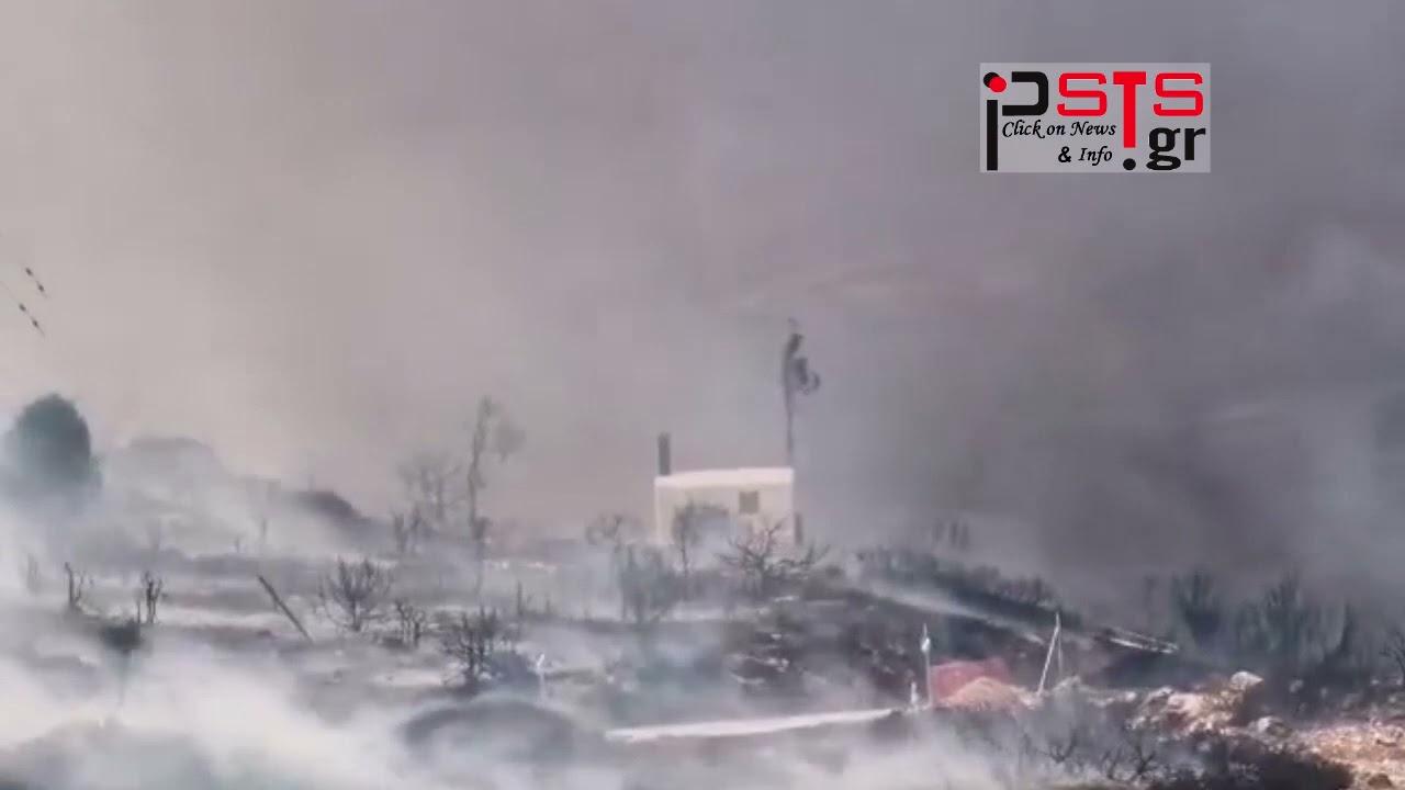 psts.gr Πάρος Συνεχίζεται το καταστροφικό έργο της πυρκαγιάς – Kατευθύνεται προς Λεύκες…