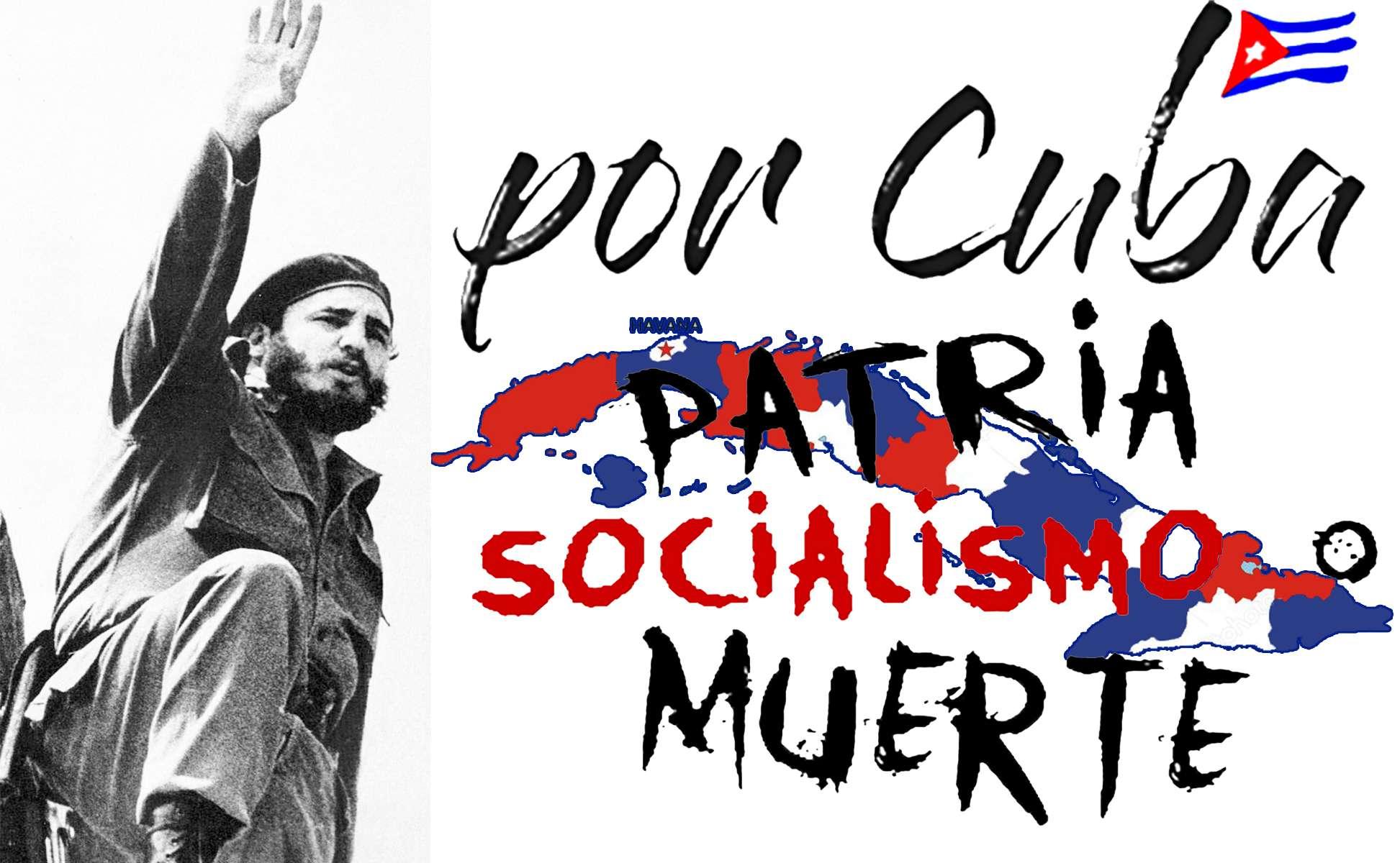 Patria o muerte Socialismo o Muerte Venceremos Fidel