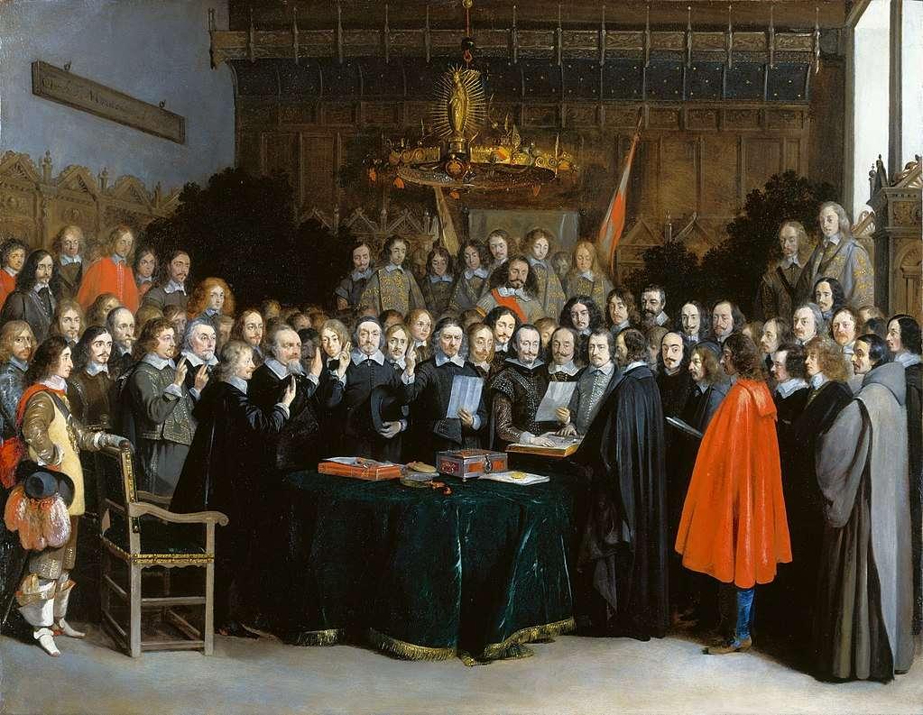 Βεστφαλίας Westfaelischer Friede in Muenster Gerard Terborch 1648