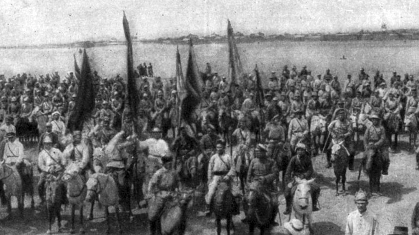 Τμήματα του Κόκκινου Στρατού και του Μογγολικού Επαναστατικού Στρατού στην Ούργκα