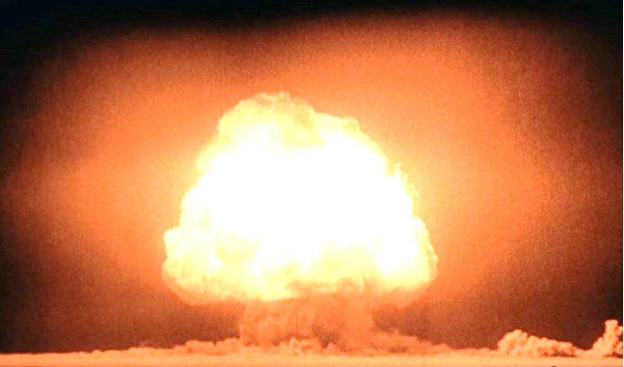Το «μανιτάρι «Gadget» πάνω από την Trinity δευτερόλεπτα μετά την έκρηξη