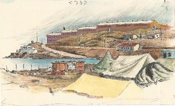 Φαρσακίδης Προσχέδιο σε χαρτί Γυάρος 1967