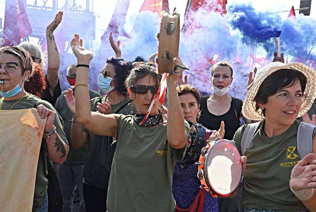 Κινητοποιήσεις Gkn στο Campi Bisenzio migliaia a mobilitazione