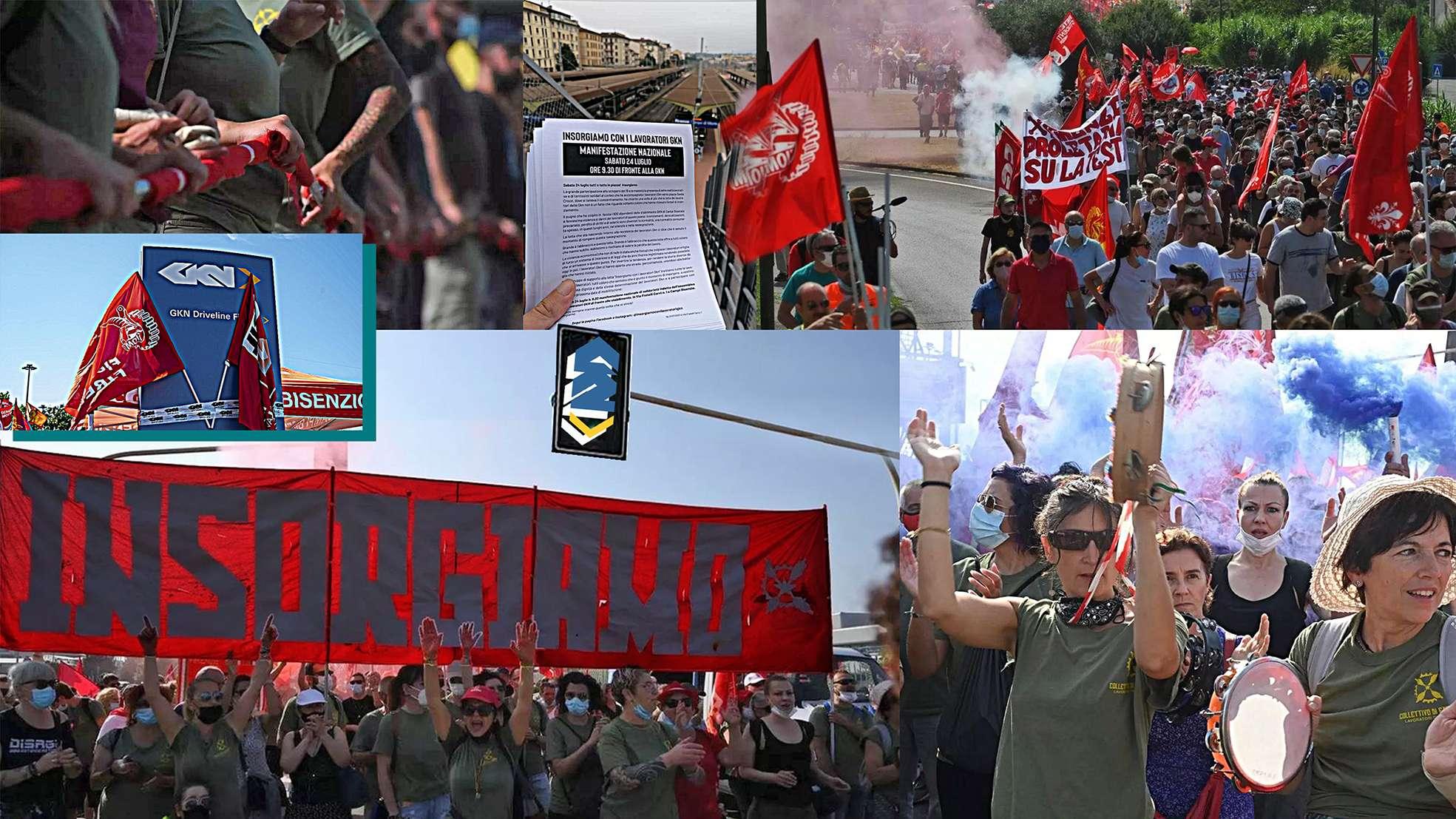 Gkn in migliaia a mobilitazione a Campi Bisenzio