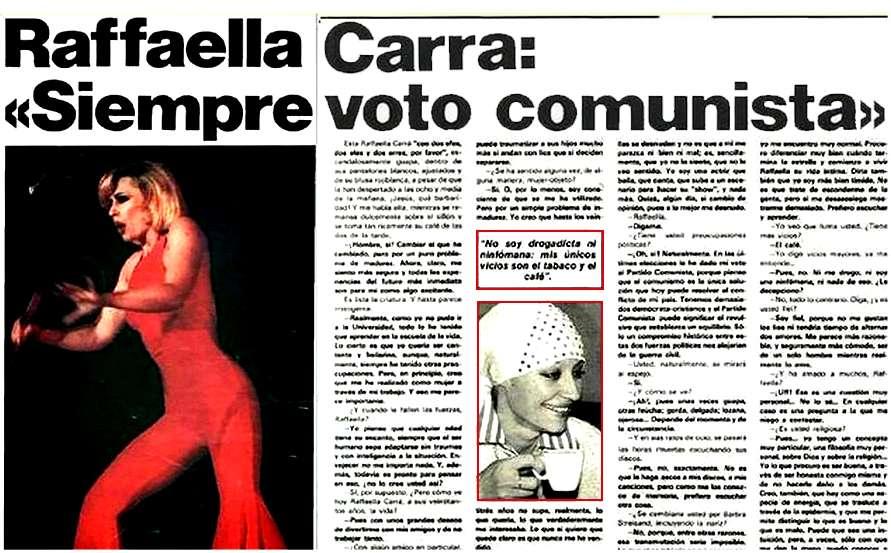 Raffaella Carra Yo siempre voto comunista