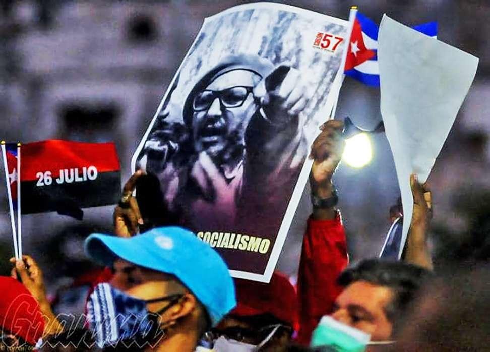 Todo el pueblo se levanta por la soberanía la defensa y la seguridad de Cuba Fidel Castro