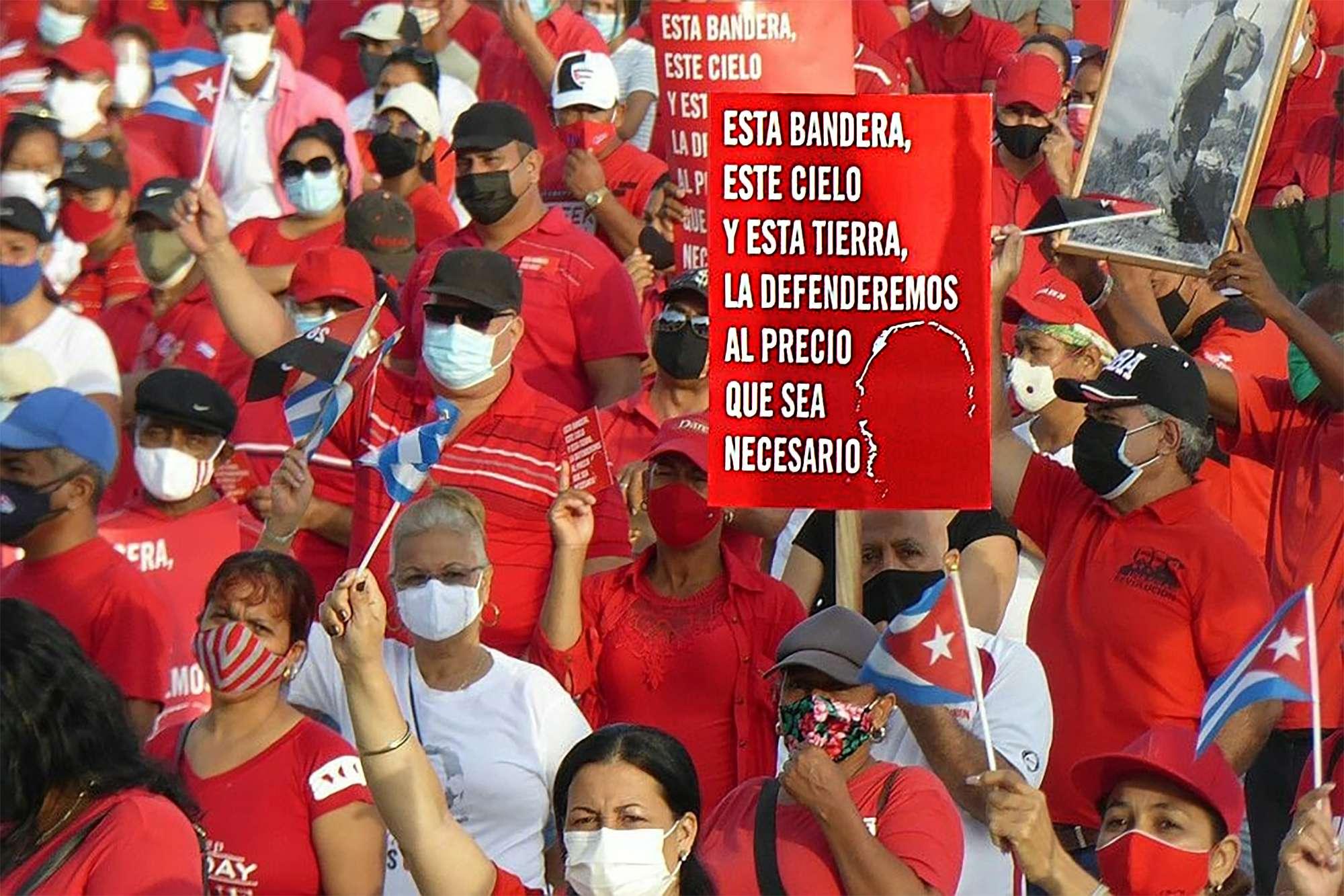 Todo el pueblo se levanta por la soberanía la defensa y la seguridad de Cuba