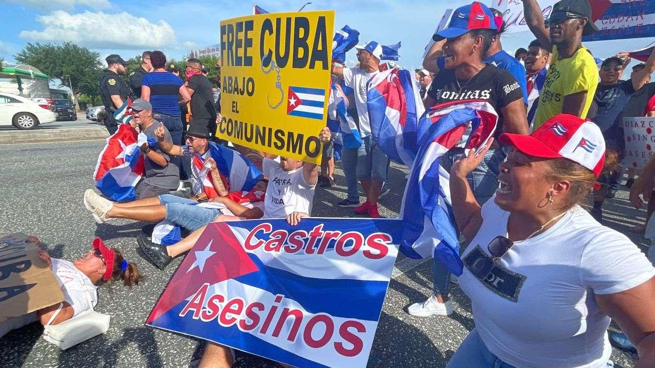 cuba demonstrationorlando Castros asesinos