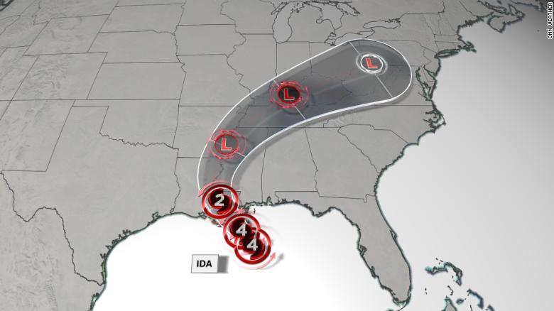 Ida a dangerous Category 4 hurricane