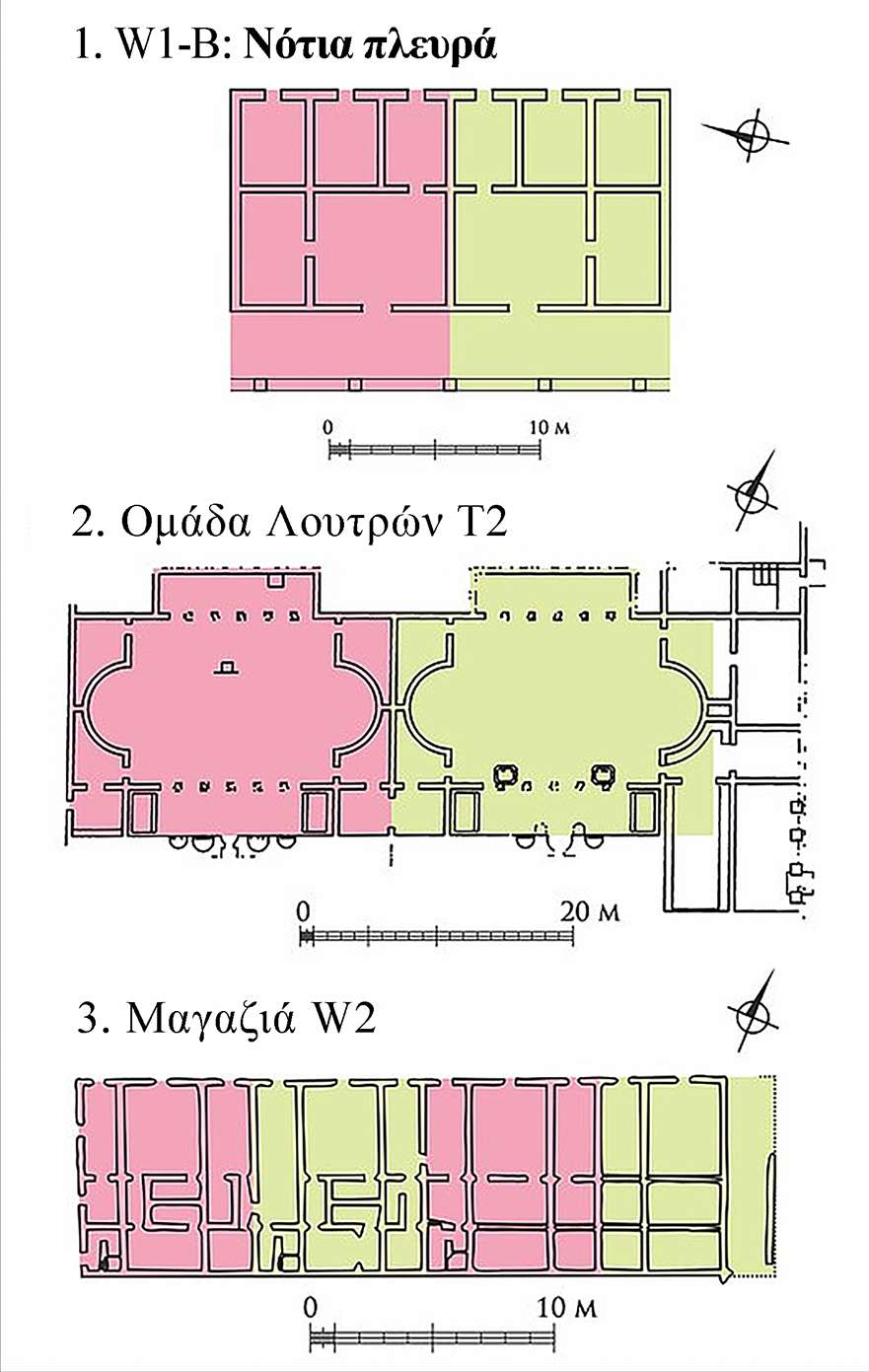 Layout of the modular buildings in Marea Such original urban planning was rare at the time when most people just repurposed Roman and Greek structures