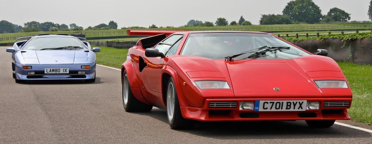due delle autovetture più famose Lamborghini Countach Diablo SV disegnate da Gandini
