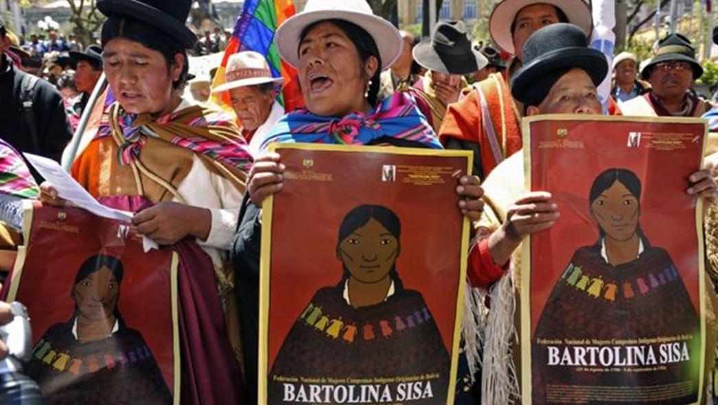Bartolina Sisa Vargas manifestacion