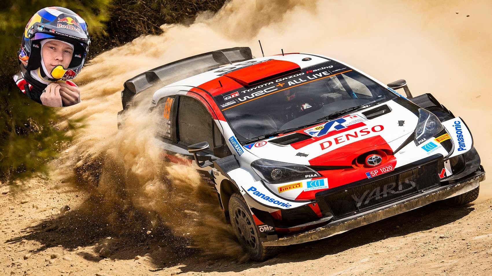 Kalle Rovanpera Toyota Yaris WRC Rally Acropolis