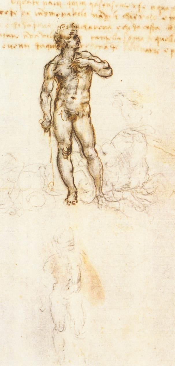 Leonardo da vinci studio David di Michelangelo Royal Library Windsor