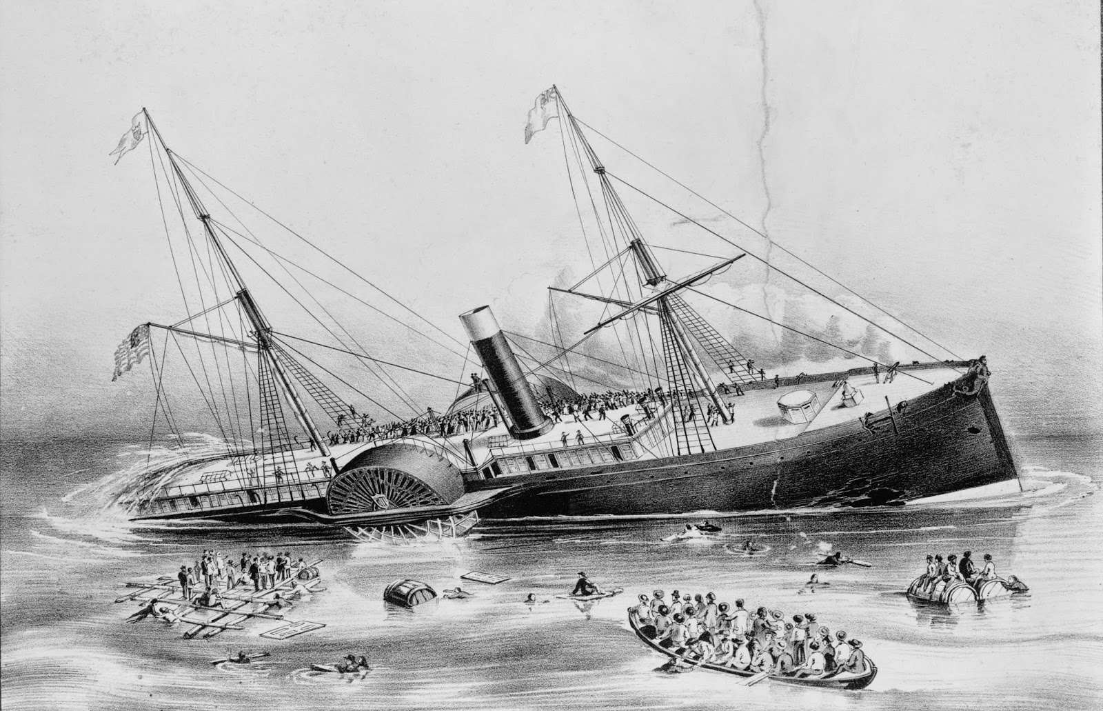 The Sinking of the S.S.Arctic steam ship arctic currier