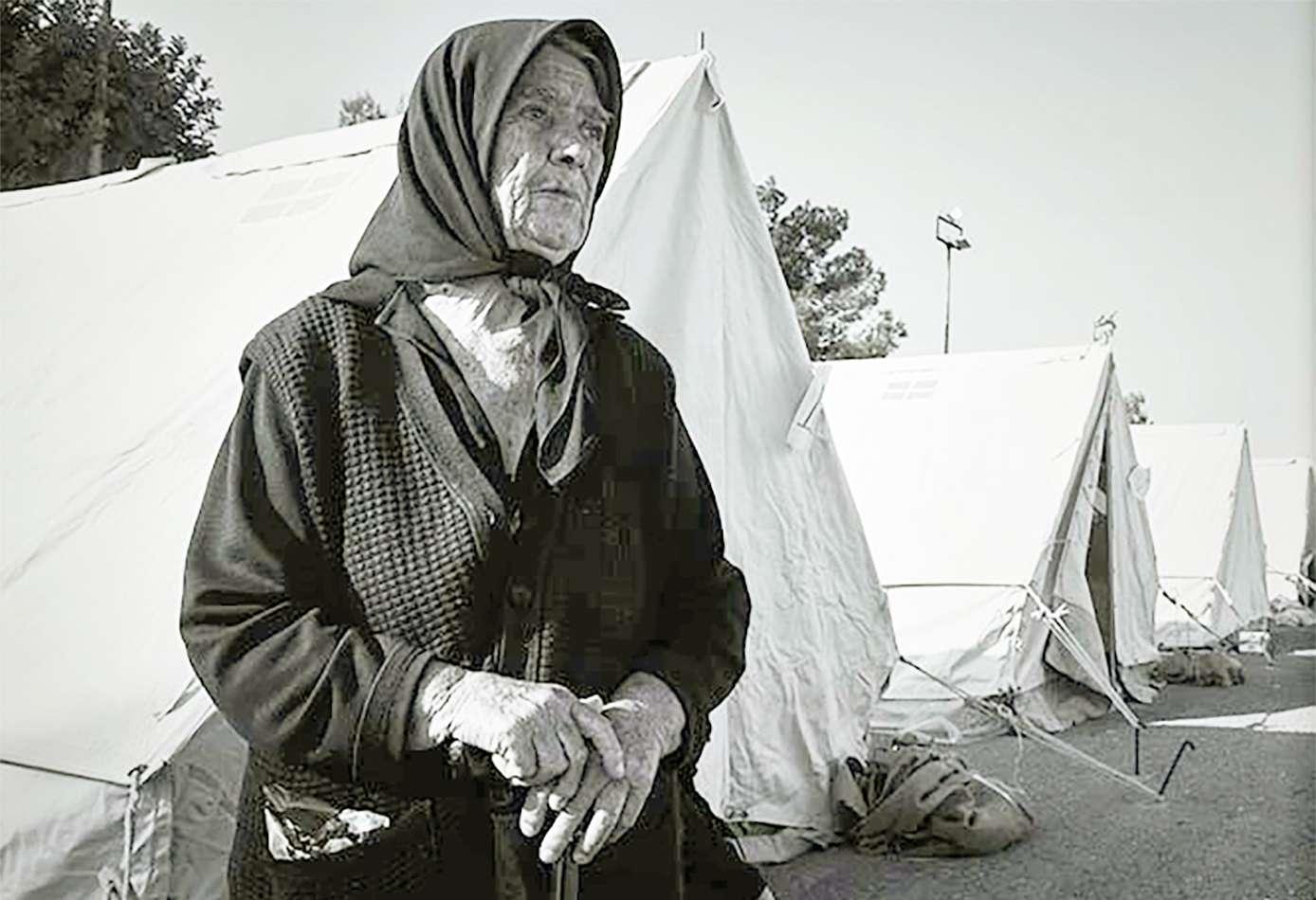 Σεισμός μ' ένα παράταιρο δάκρυ σαν κόμπος λιβάνι