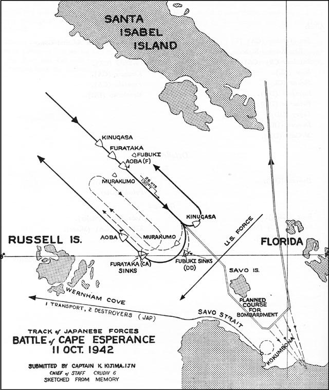 Battle of Cape Esperance Chart
