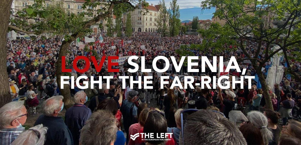 Love Slovenia fight the far right
