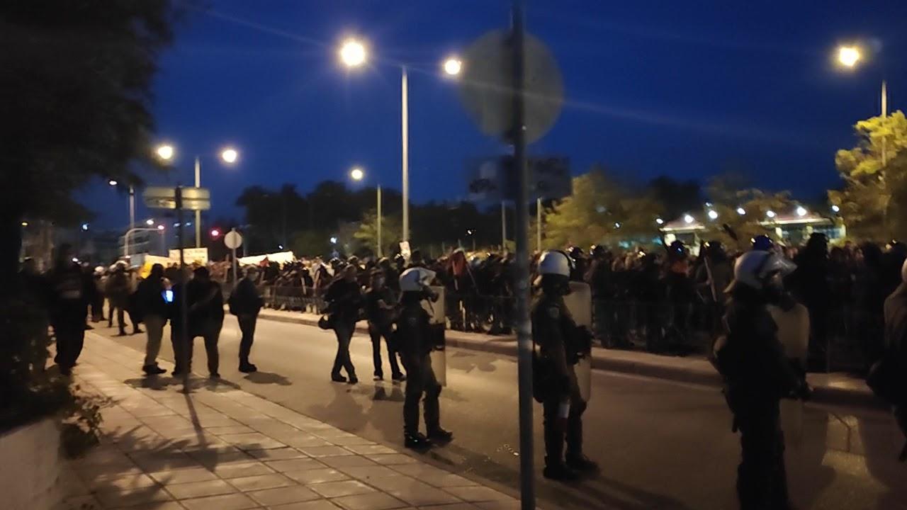 Thesstoday.gr Μπλόκο στην πορεία αντιεξουσιαστών Σταυρούπολη